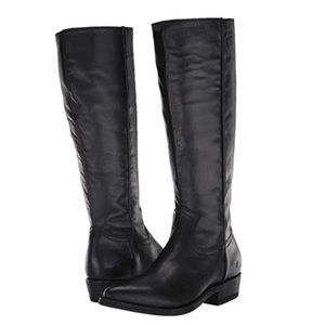 FRYE Billy Inside Zip Leather Boots Tall NWT